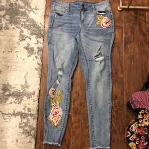 Ana floral jeans
